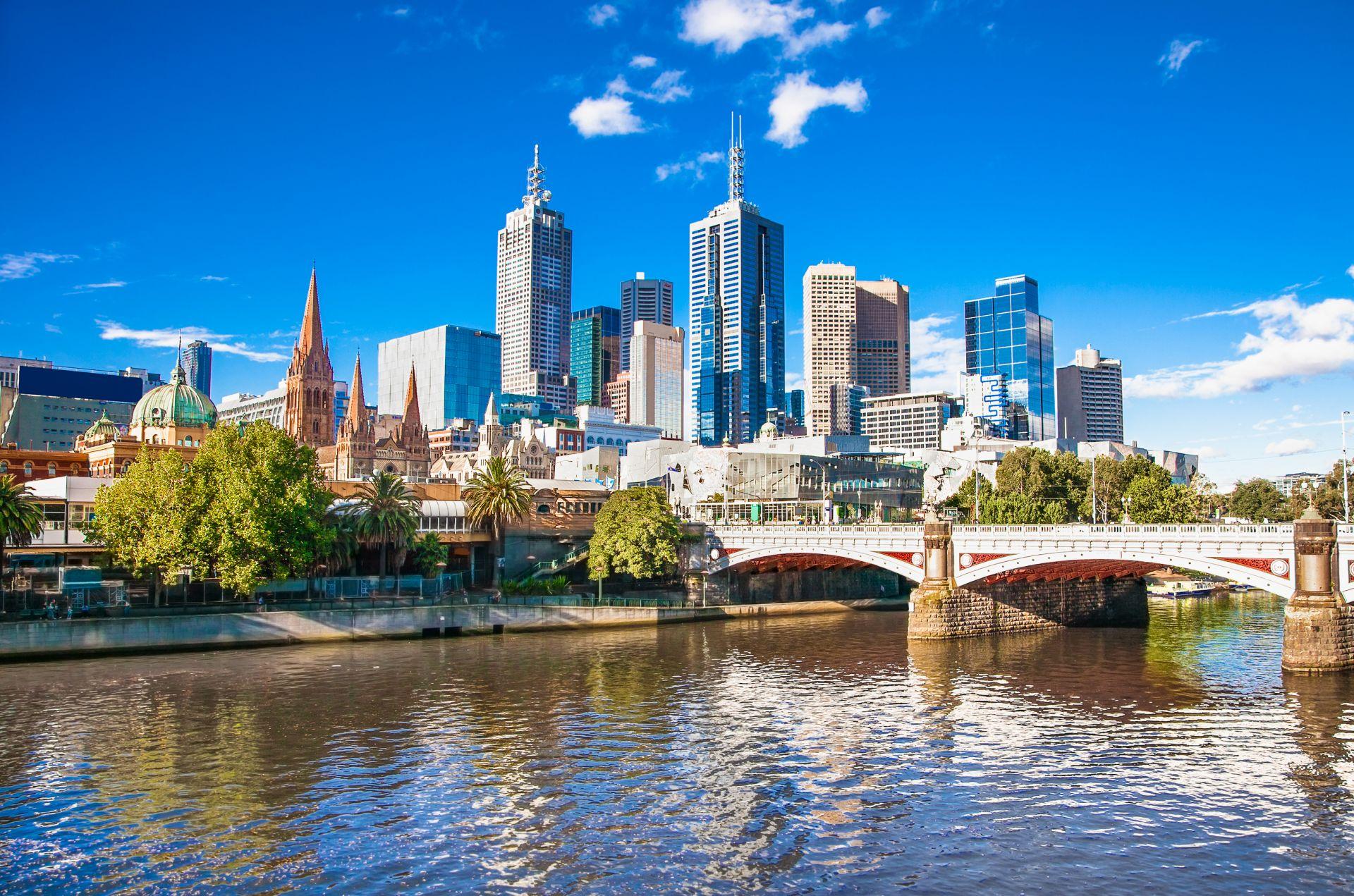 Pohled na město Melbourne